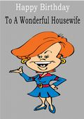 Housewife - Greeting Card